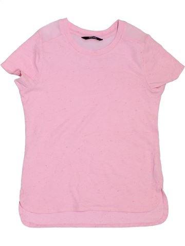 T-shirt manches courtes fille GEORGE rose 8 ans été #1306942_1