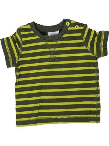 T-shirt manches courtes garçon F&F marron 3 mois été #1307102_1