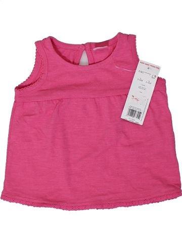 Camiseta sin mangas niña F&F rosa 6 meses verano #1307139_1