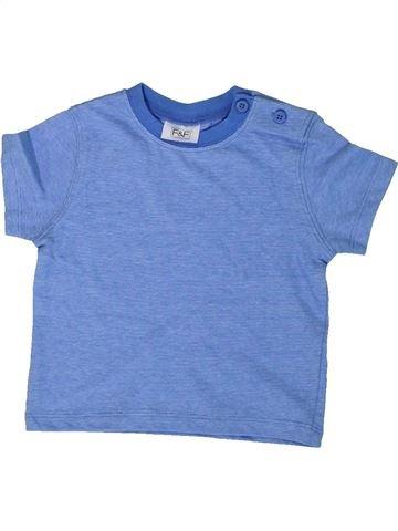 T-shirt manches courtes garçon F&F bleu 3 mois été #1307154_1