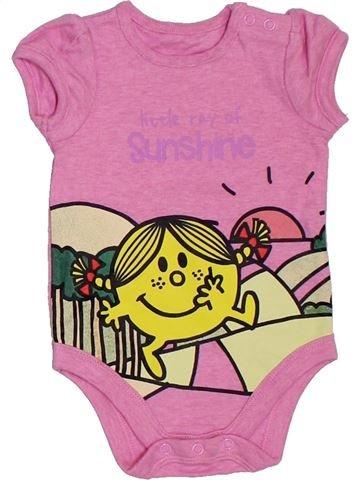 T-shirt manches courtes fille MOTHERCARE rose 3 mois été #1307410_1