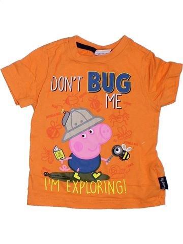 T-shirt manches courtes garçon PEPPA PIG orange 2 ans été #1307499_1