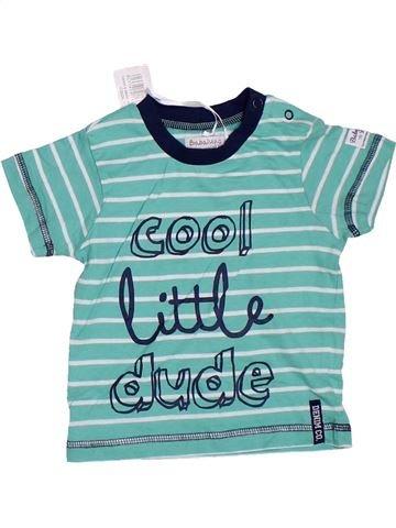Camiseta de manga corta niño BABALUNO verde 12 meses verano #1307639_1
