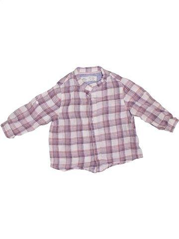 Camisa de manga larga niño ZARA gris 9 meses invierno #1307777_1