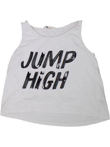 Camiseta sin mangas niña H&M blanco 10 años verano #1307865_1