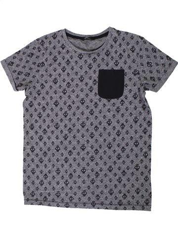 T-shirt manches courtes garçon GEORGE gris 13 ans été #1307877_1