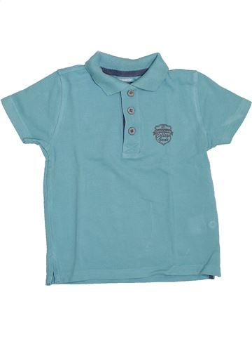 Polo de manga corta niño VERTBAUDET azul 4 años verano #1307886_1