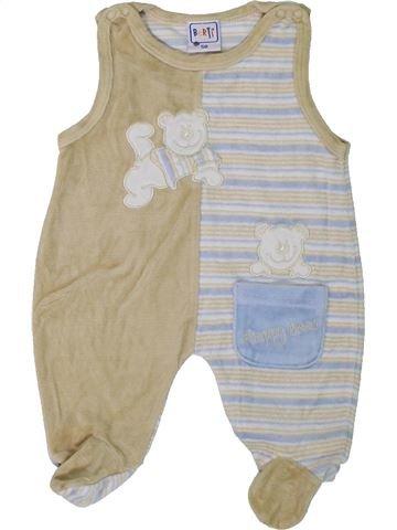 Pyjama 1 pièce garçon BERTI gris 1 mois hiver #1307976_1