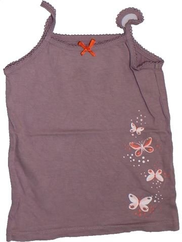 Camiseta sin mangas niña VERTBAUDET violeta 4 años verano #1307985_1