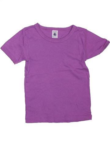 Camiseta de manga corta niña PETIT BATEAU violeta 4 años verano #1307999_1