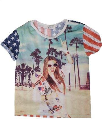Camiseta de manga corta niña RIVER ISLAND gris 6 años verano #1308042_1