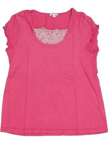T-shirt manches courtes fille JACADI rose 8 ans été #1308200_1