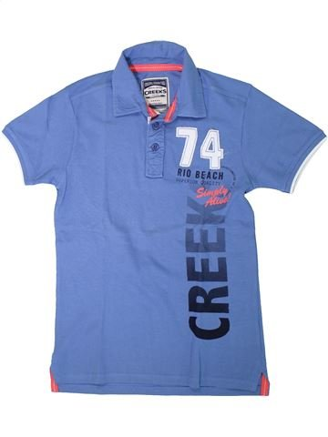 Polo de manga corta niño CREEKS azul 14 años verano #1308221_1