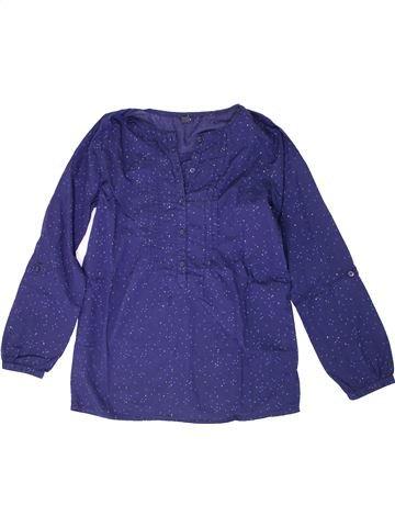 Blusa de manga larga niña KIABI violeta 12 años invierno #1308250_1