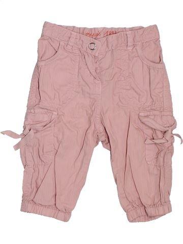 Pantalon fille PETIT BATEAU rose 6 mois été #1308348_1