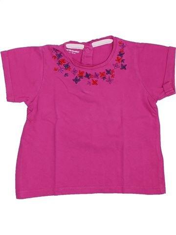 Camiseta de manga corta niña VERTBAUDET violeta 2 años verano #1308442_1