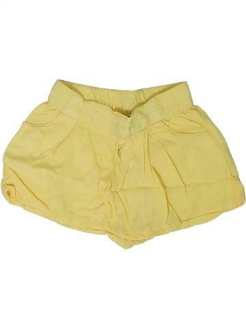 Short-Bermudas niña KIABI amarillo 2 años verano #1308561_1