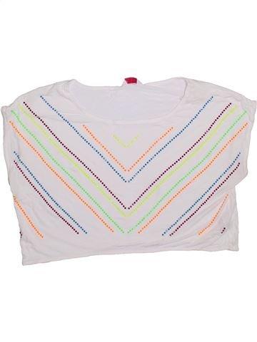 T-shirt manches courtes fille M&CO blanc 13 ans été #1309093_1