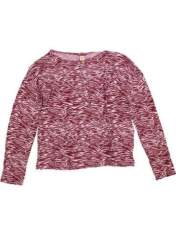 T-shirt manches longues fille BELLEROSE marron 12 ans hiver #1309158_1