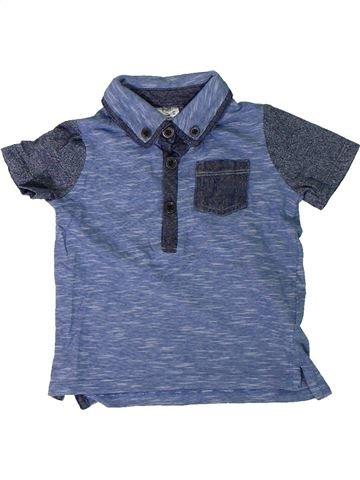 Polo de manga corta niño F&F azul 9 meses verano #1309580_1