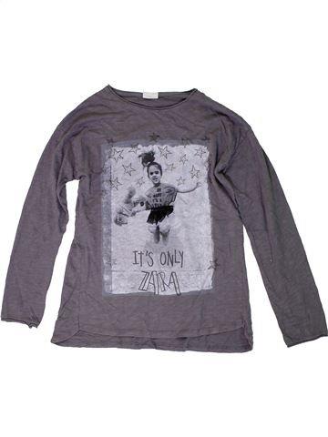 Camiseta de manga larga niña ZARA gris 10 años invierno #1309665_1
