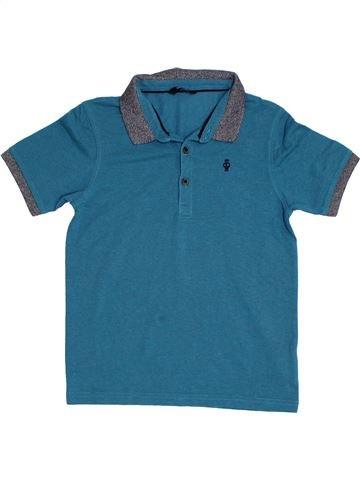 Polo de manga corta niño GEORGE azul 11 años verano #1309916_1