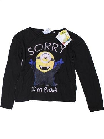 T-shirt manches longues fille LES MINIONS noir 8 ans hiver #1309946_1