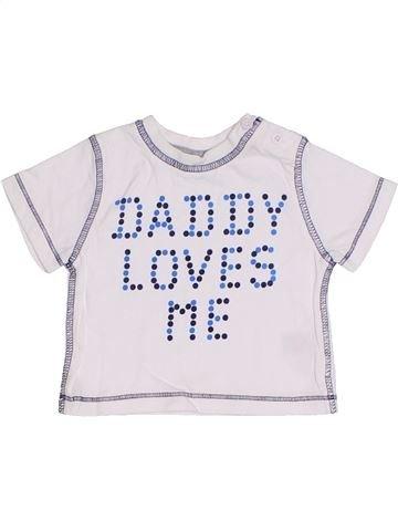 Camiseta de manga corta niño F&F blanco 0 meses verano #1310182_1