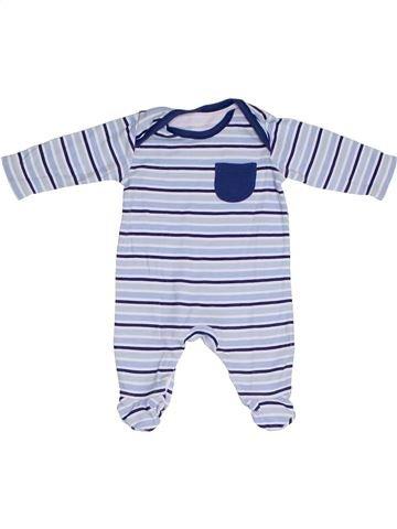 Pijama de 1 pieza niño GEROGE blanco 1 mes verano #1310240_1