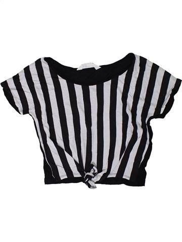 Camiseta de manga corta niña H&M negro 12 años verano #1310292_1