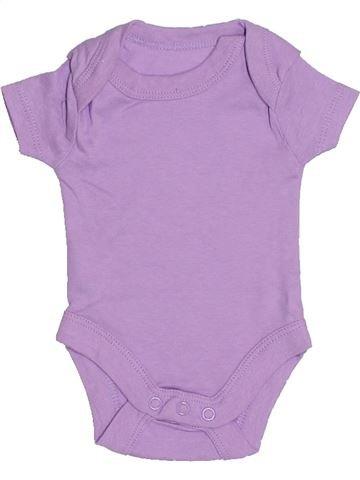 T-shirt manches courtes fille LILY & DAN violet prématuré été #1310635_1