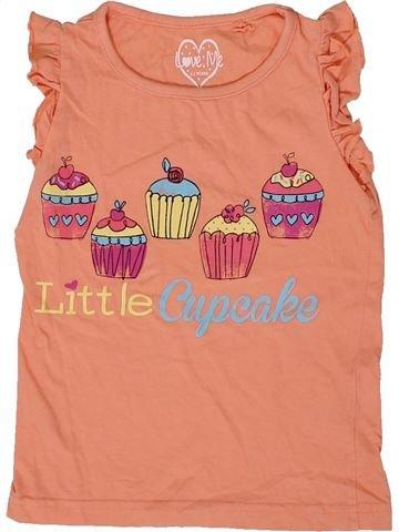 Camiseta sin mangas niña LOVE ME naranja 3 años verano #1310749_1