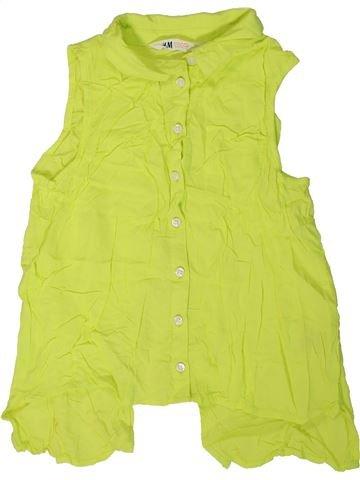 Blusa de manga corta niña H&M verde 11 años verano #1310808_1