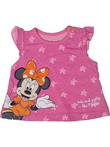 Camiseta de manga corta niña DISNEY rosa 3 meses verano #1310814_1