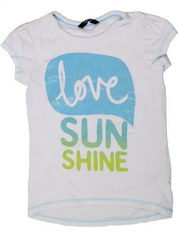 Camiseta de manga corta niña GEORGE blanco 6 años verano #1310924_1