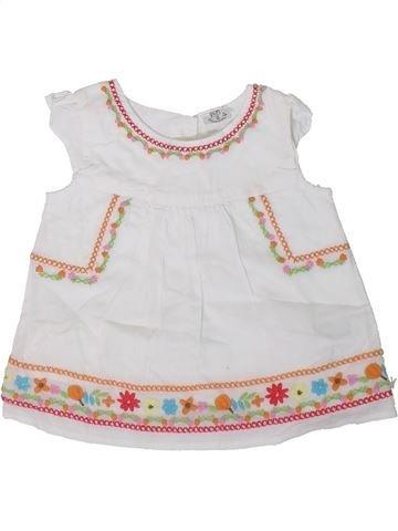Blusa de manga corta niña F&F blanco 6 meses verano #1311099_1