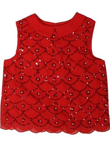 Blusa de manga corta niña GEORGE rojo 10 años verano #1311150_1
