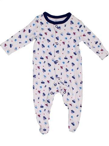 Pijama de 1 pieza niño GEORGE blanco 1 mes verano #1311251_1