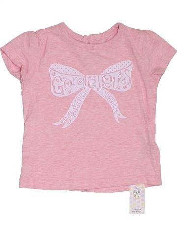 Camiseta de manga corta niña F&F rosa 6 meses verano #1311397_1