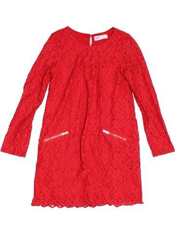 Vestido niña H&M rojo 8 años verano #1311459_1
