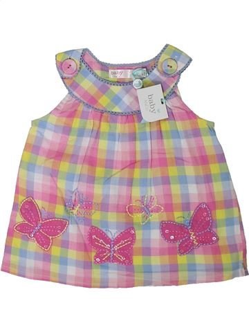 Blusa de manga corta niña M&CO beige 9 meses verano #1311584_1