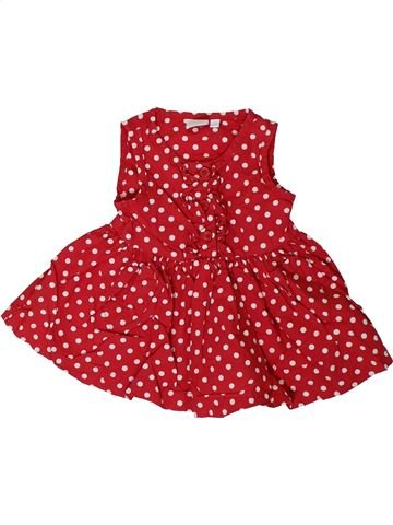 Vestido niña BLUEZOO rojo 3 meses verano #1311800_1