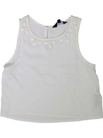 Blusa de manga corta niña NEW LOOK blanco 8 años verano #1311931_1