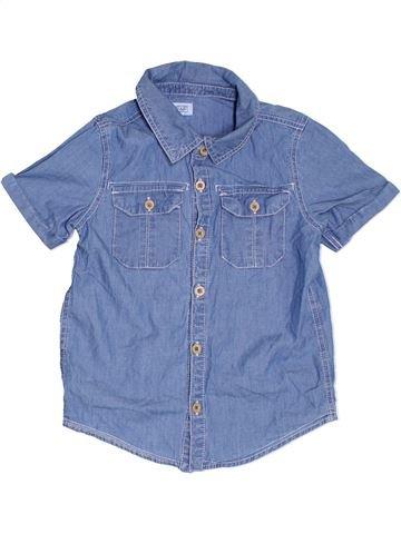 Chemise manches courtes garçon F&F bleu 7 ans été #1312076_1