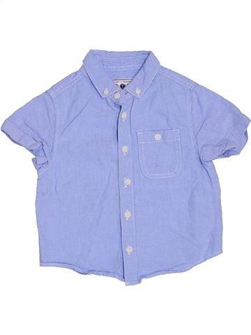 Chemise manches courtes garçon BOYS violet 3 ans été #1316334_1