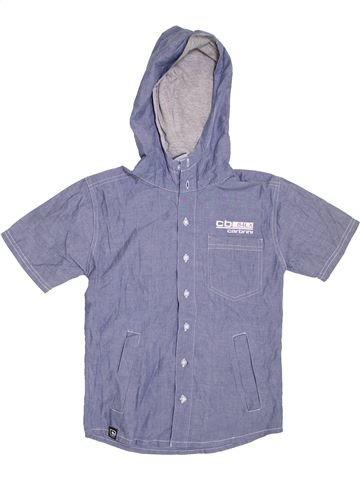 Chemise manches courtes garçon CARBRINI gris 9 ans été #1317597_1