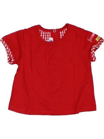 T-shirt manches courtes fille CHICCO rouge 6 mois été #1321341_1
