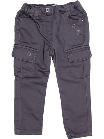 Pantalon fille VERTBAUDET gris 2 ans été #1322904_1