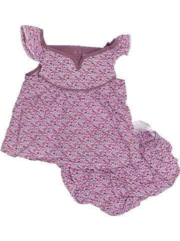 Conjunto niña TROIZENFANTS violeta 6 meses verano #1323028_1