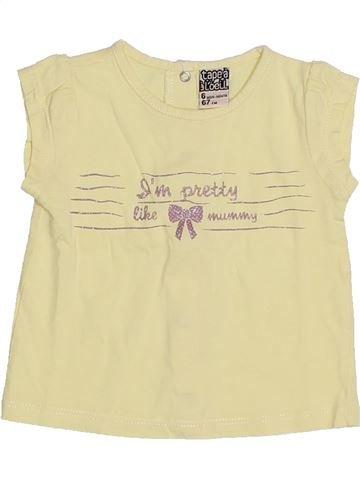T-shirt manches courtes fille TAPE À L'OEIL jaune 6 mois été #1323091_1